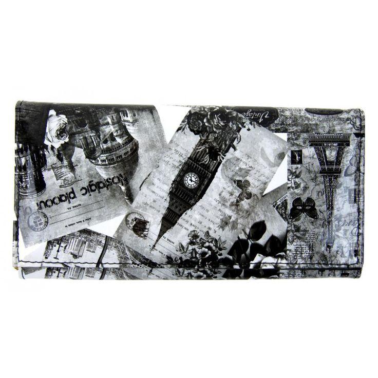 Dámská módní peněženka T312 černo-bílá
