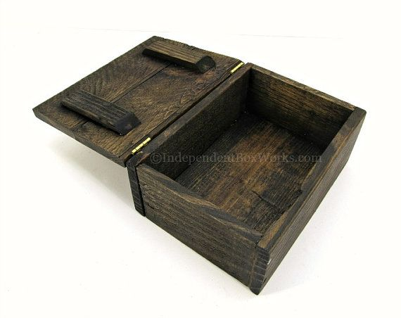 Best 25 wooden memory box ideas on pinterest shadow box art rustic reclaimed wood memento box handmade small wooden memory box country chic photo storage solutioingenieria Images