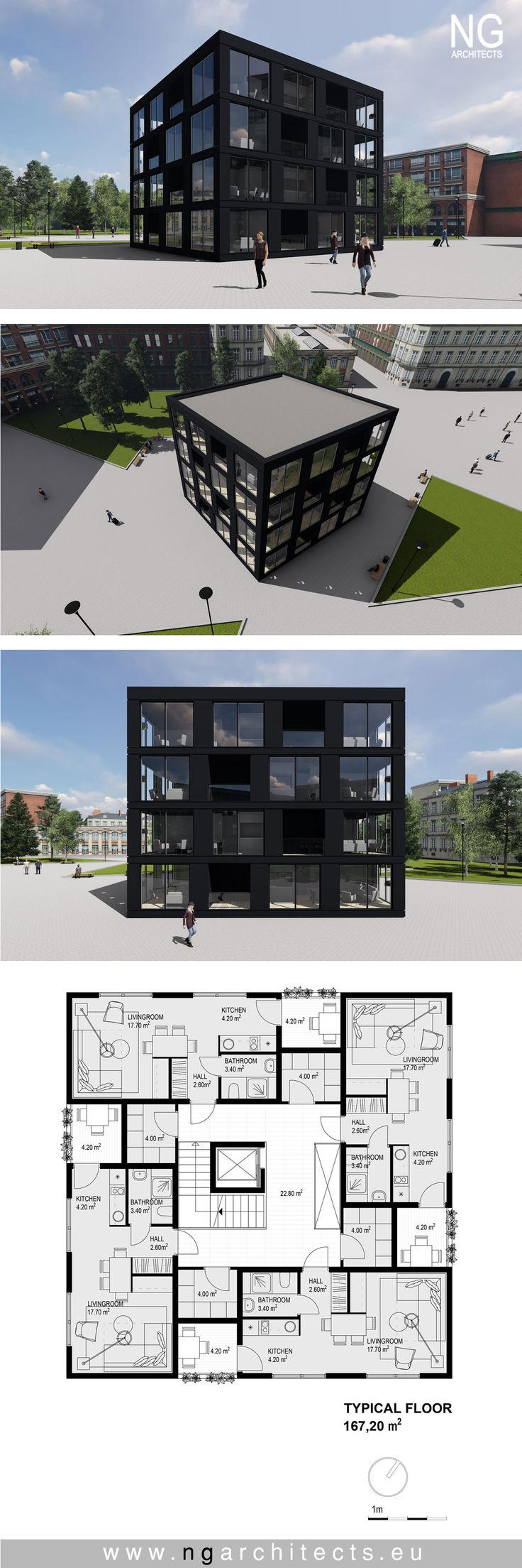 multiapartment building designed by NG architects www.ngarchitects.eu – NG architects     we design modern villas around the world