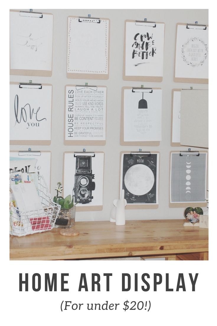 Make a beautiful Art Display for your kids art for under $20 (As ...