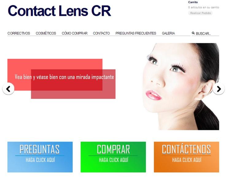 Desde esta página podrás comprar lentes de contacto.