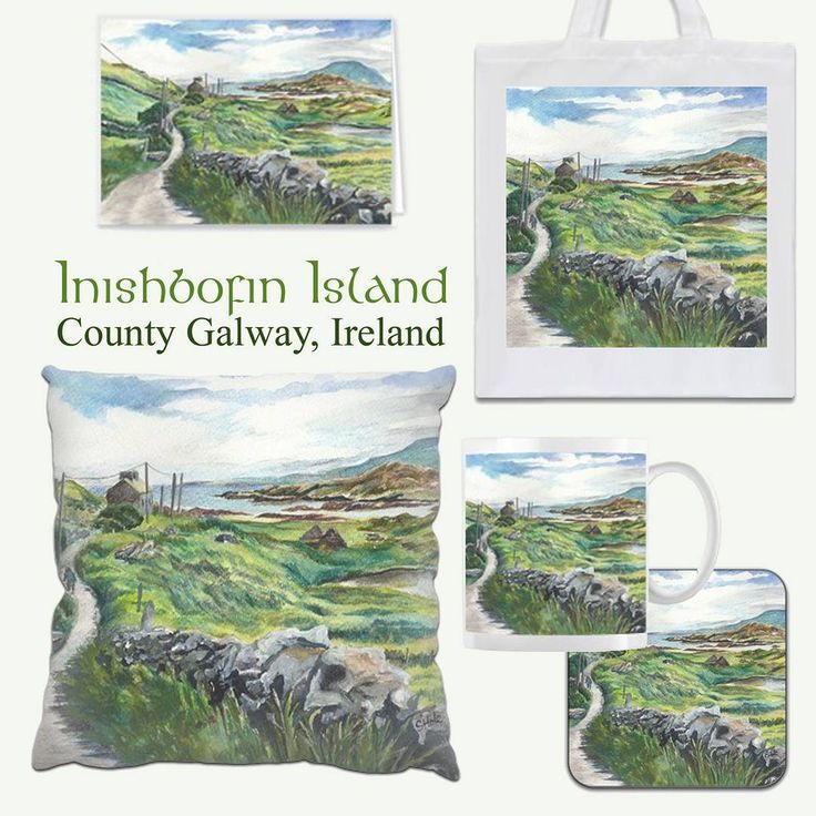My Inishbofin Island painting is available on a range of printed gifts from @Zippi  Please take a look to see the whole range of items available:  https://www.zippi.co.uk/portfolio/suzannehole/inishbofin-island An inspiring and really beautiful scene of a winding road and stone wall, leading the eye towards the sea and a sandy beach, with Mweelrea mountain in the distance. #art #zippi #gifts #giftware #homeware #inishbofin #inishbofinisland #connemara #galway #ireland #irish #wildatlanticway