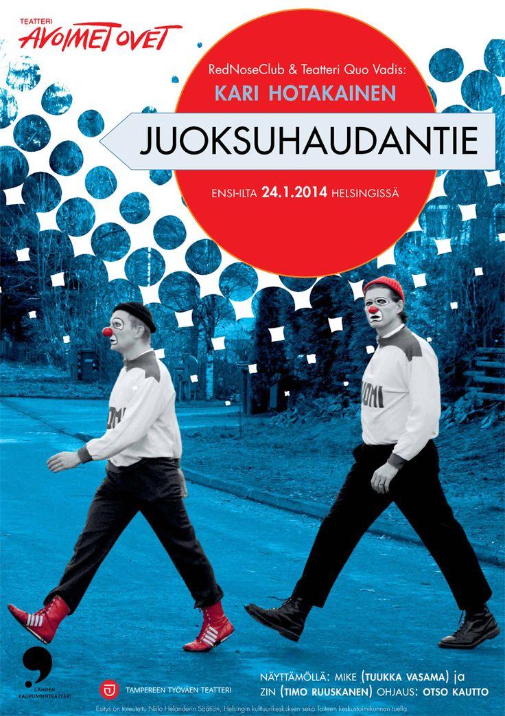Poster design for Teatteri Avoimet Ovet in Helsinki.