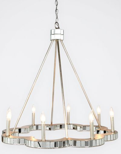 Made Goods – Fiona Chandelier (Flower shaped mirrored chandelier. 7  lights)(above) I like this delicate. - 231 Best Chandeliers, Lamps + Sconces Images On Pinterest