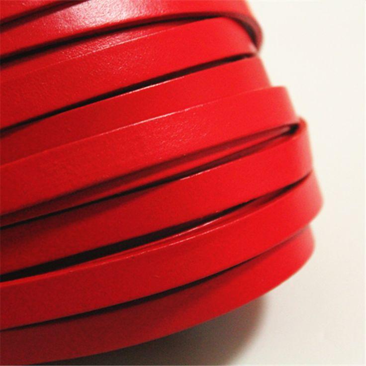 10mm Red Real Platte Lederen Koord Strip, 10 voeten Echt Platte Lederen String, gratis Verzending in artikelomschrijvingechte platte lederen bandAantal: 1lot=10feet( 3.05meters)Artikel size: 10mm breed, 2mm dikteArtikel v van sieraden bevindingen en componenten op AliExpress.com | Alibaba Groep
