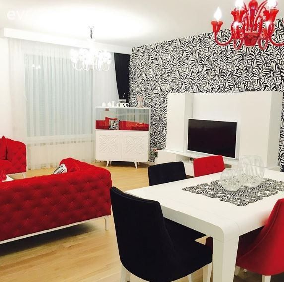 Yemek Odası, Kırmızı, Siyah, Siyah-beyaz, Duvar kağıdı