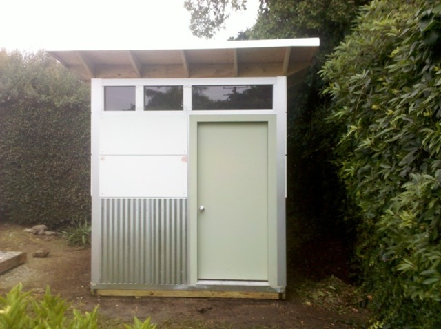 Plain Modern Sheet Metal Fence Shed J Likes Corrugated Throughout Design Ideas