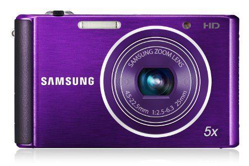 Samsung ST76 Compact Digital Camera – Purple (16.1 MP, 5x Optical Zoom)