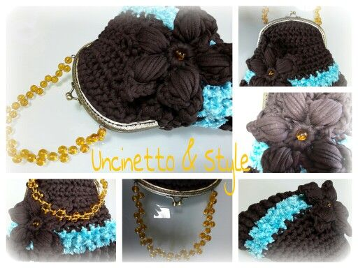 Crochet bag, handmade bag, craft bag, hooked bag