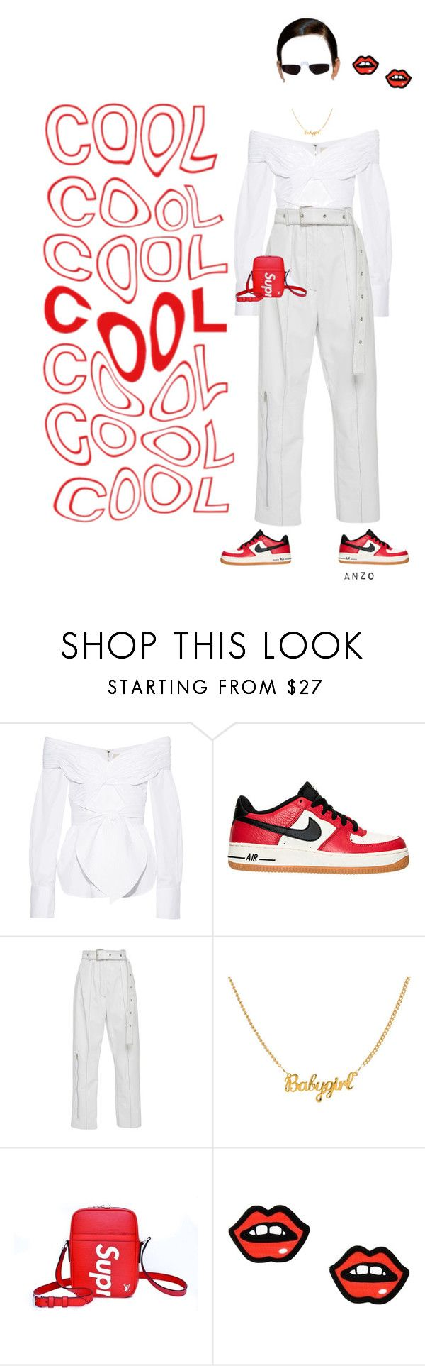 """""""YOU ARE FAKE NEWS"""" by mwamini-anzo ❤ liked on Polyvore featuring Johanna Ortiz, NIKE, Louis Vuitton and George J. Love"""