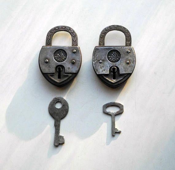 Soviet vintage padlock ZM with keys 47