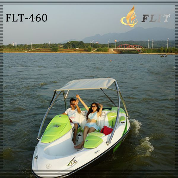 China new 4 seats hot sale small fiberglass speedster for Small motor boat for sale