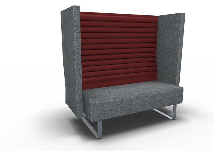 Soffa Mr Box 2-sits hög rygg