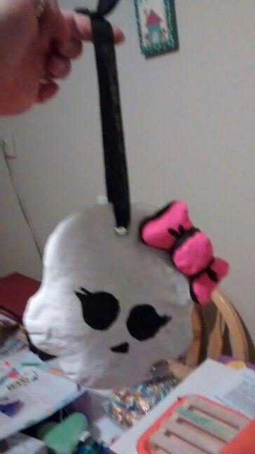 Monster high skull made from salt dough