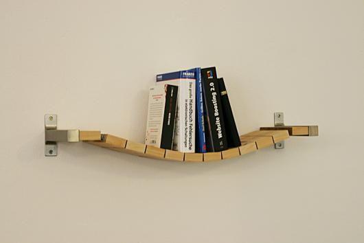 Rope bridge book shelf