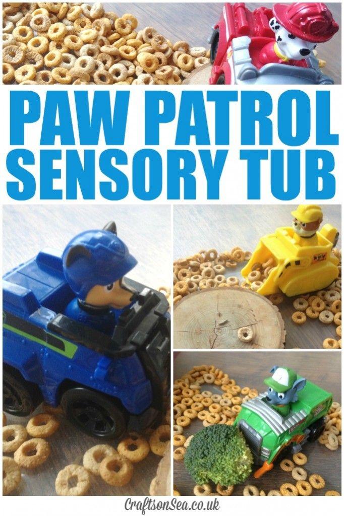 Paw Patrol Sensory Tub - Crafts on Sea
