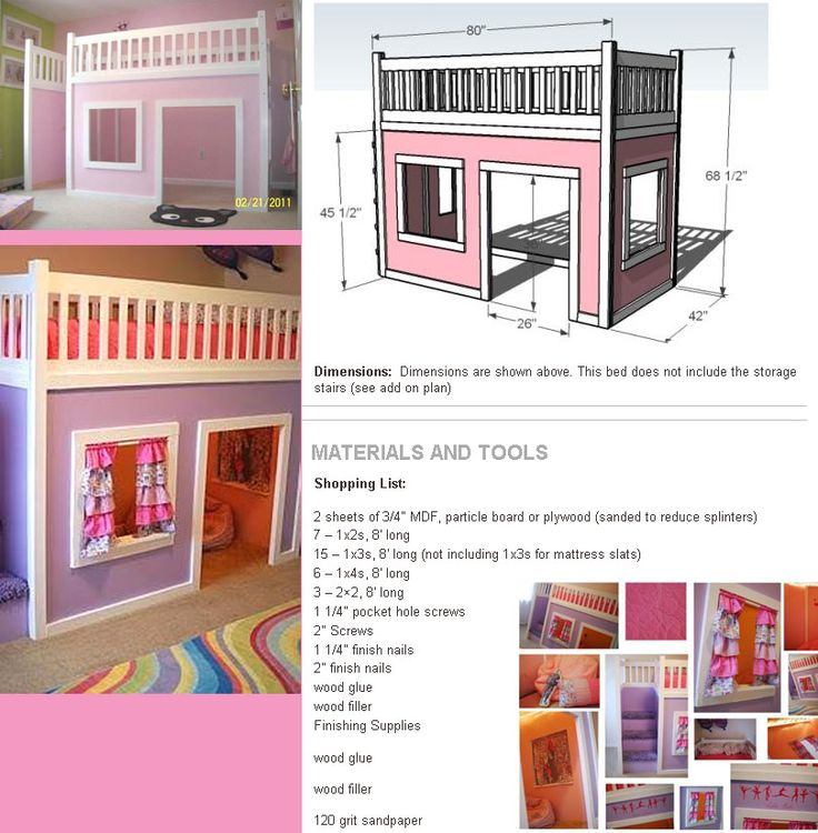 Playhouse Loft.  What princess wouldn't love this castle? We made something very similar for our daughter and she loved it.