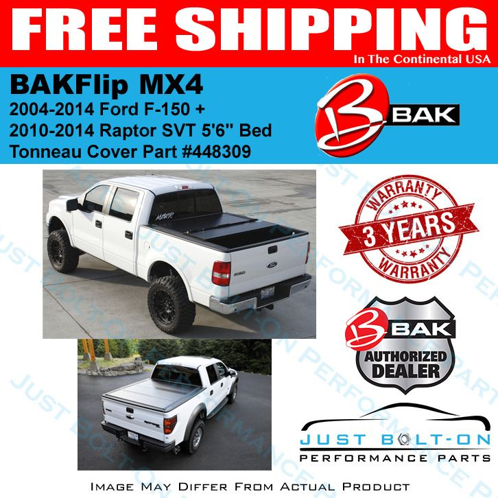 Bakflip Mx4 Hard Folding Bed Cover Fits 04 14 Ford F 150 10 14 Raptor 5 6 Bak Tonneau Cover Performance Parts Ford