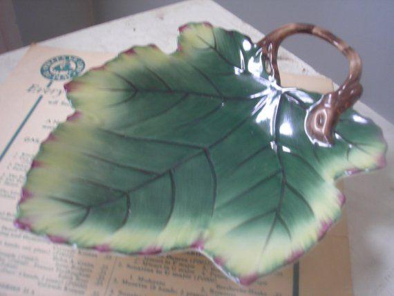 SOLD-Grape Leaf Plate