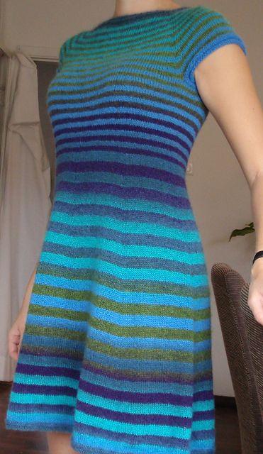 Ravelry: Project Gallery for Stribet kjole pattern by Ellen Holm