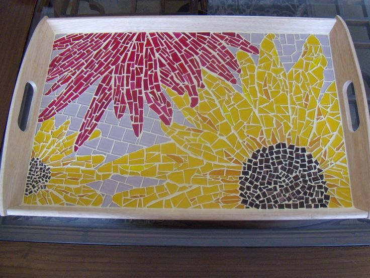 MOSAIC FLOWERS: Serving Tray | My Mosaic Projects ...