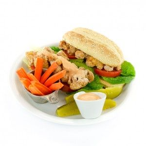 Spicy (or not) Cauliflower Po' Boy from The Easy Vegan Cookbook by Kathy Hester - Dianne's Vegan Kitchen