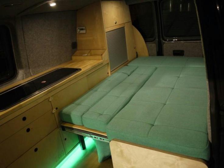 259 best images about campervan design on pinterest for Vw t4 interior designs