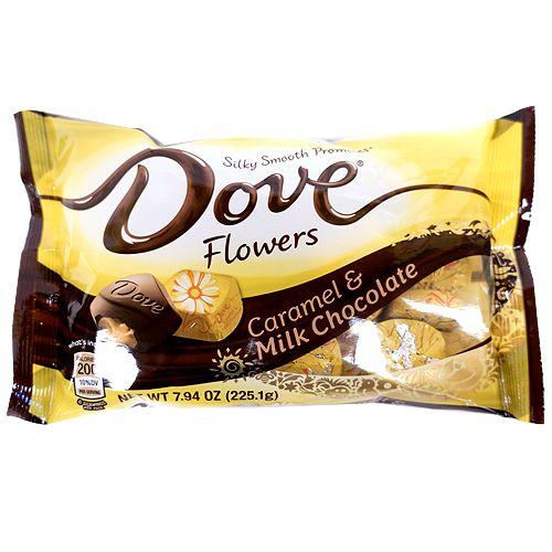 Dove Promises Caramel & Milk Chocolate Flowers - 7.94-oz. Bag