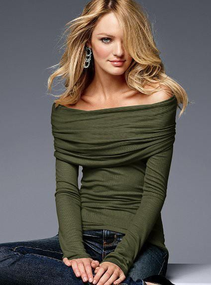Olive green cowl neck sweater..
