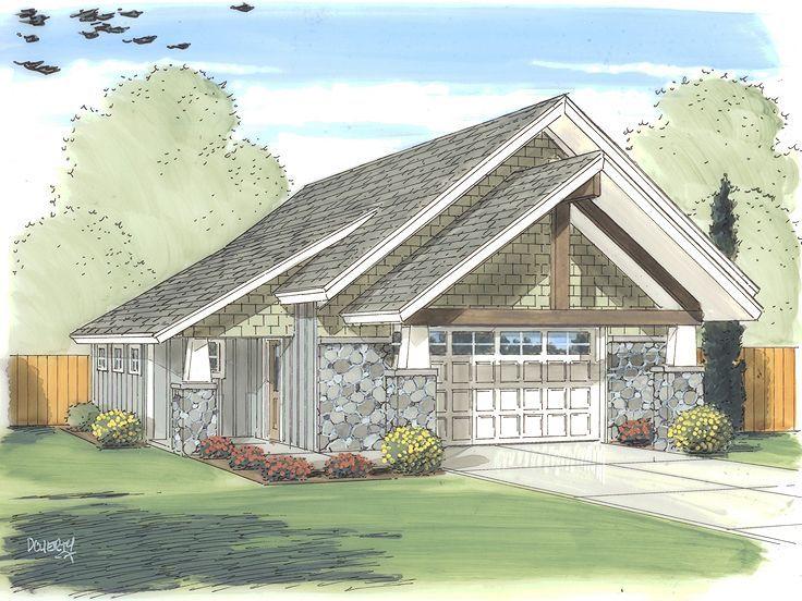 050g 0023 2 Car Workshop Garage Plan 32 X32 House With Porch Garage Workshop Plans Garage Plan