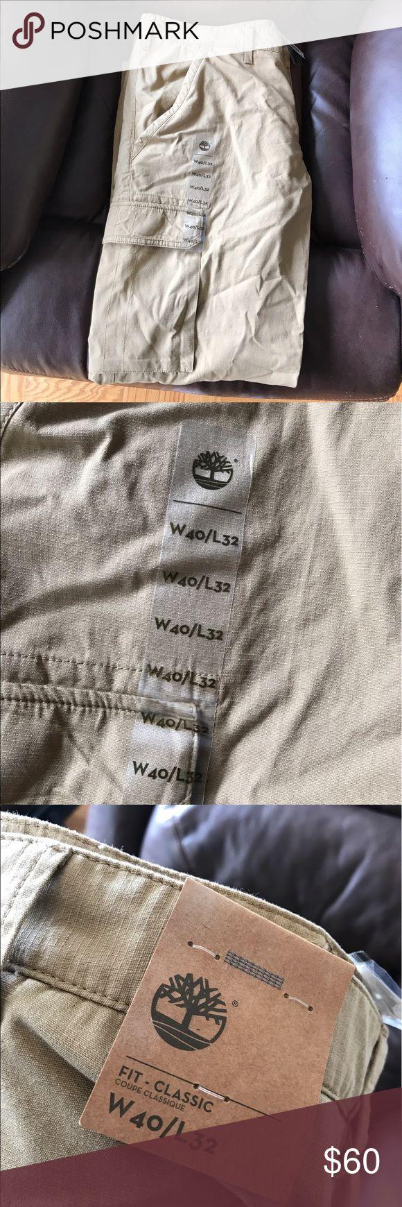 Men's Timberland Khaki Pants NWT Great khaki cargo pants, never worn! Timberland Pants Chinos & Khakis