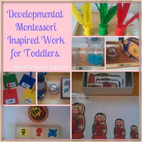Montessori activities for toddlers from Montessori Nature