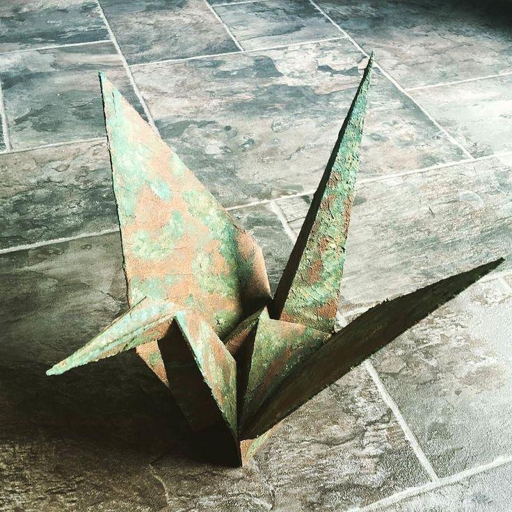 Чернобыльский журавлик. Работа @mirice_inc  #чернобль #журавль #оригами #3dprint #3dпечать #3dprinting #3dпринтер by 3dp_news