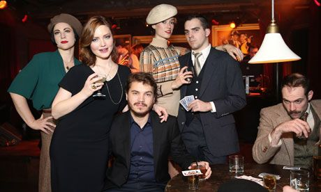 Emile Hirsch and Holliday Grainger attend the Bonnie And Clyde premiere in New York City. Photograph: Neilson Barnard/Getty Images