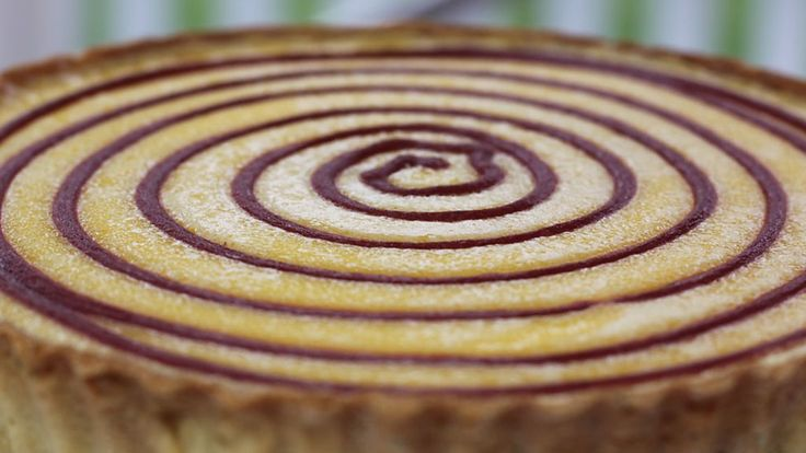 Kate Henry's  Rhubarb and Custard Tart with an Almond and Rosemary Pastry