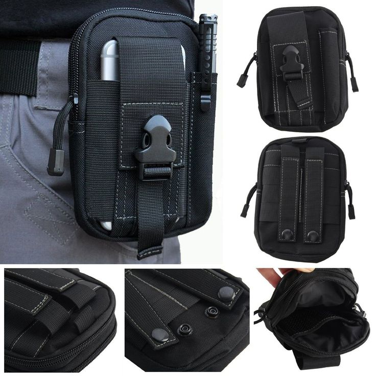 Hannahool 600D Compact Multi-Purpose Tactical Utility Gadget Pouch Tools Waist Bag Pack Tactical Molle Pouch EDC Utility Gadget Belt Waist Bag with Cell Phone Holster Holder for iPhone 6Plus (Black) * Click image to review more details.