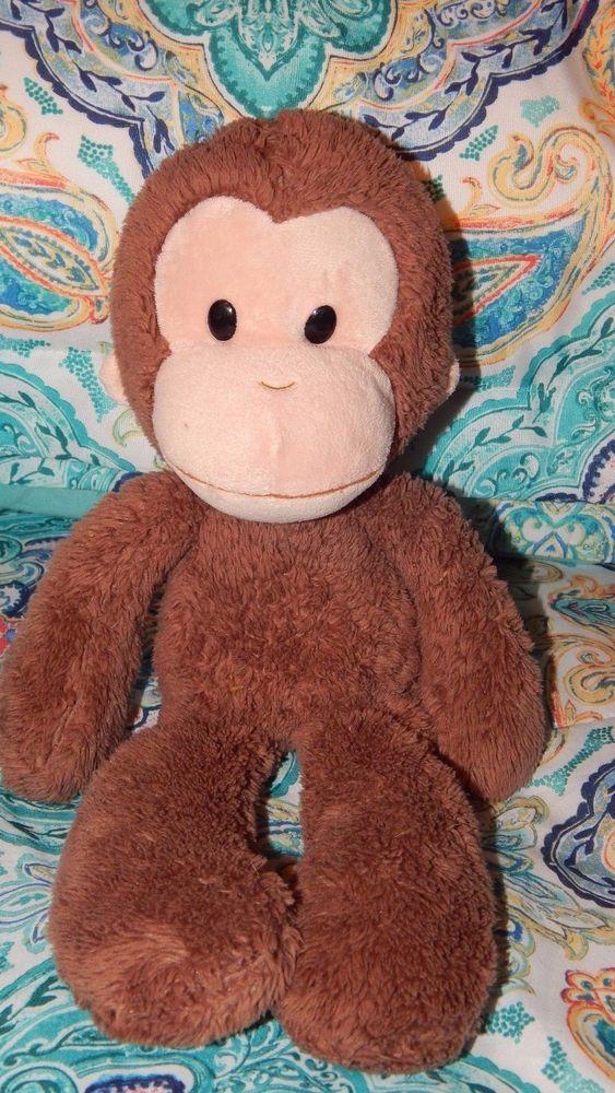 "Gund Curious George Plush Monkey Soft Fluffy Brown Stuffed Animal Toy 15"" #GUND"
