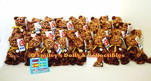 """RARE*Complete 32 Bear Set... ty® CHAMPION the BEANIE BABY... 2002 FIFA WORLD CUP SOCCER """"CHAMPIONS""""... <>Korea & Japan Ceremonies... PRODUCT NO.: H015810526 OFFICIAL LICENSED PRODUCT... GENERATION: 10th (10G SPECIAL CHAMPION TAG)... COLLECTION: CHAMPION BEANIES... STYLE: 8"""" BEAR (ALL FLAG NOSE)... THEME: WORLD CUP... MATERIAL: 100% Poly/Pellet Fill... ISSUE..."""