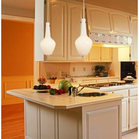138 best vegetable kitchen images on pinterest danish modern jonathan adler capri 8 14 wide white mini pendant aloadofball Gallery