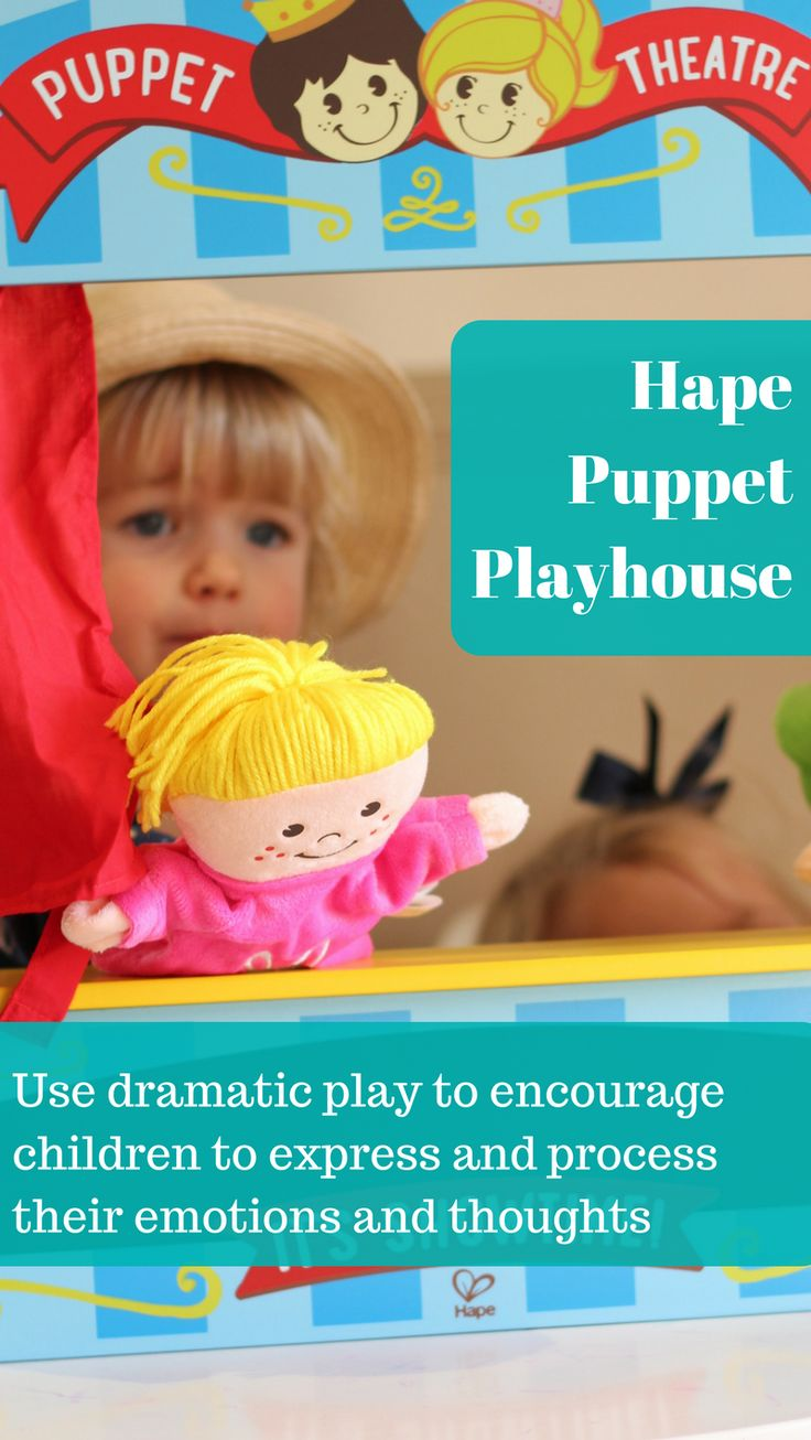 Dramatic play allows children to verbalise what they are thinking or feeling, and make sense of the world around them. They can try new things and ideas out in a 'safe environment', and transfer knowledge from real life situations into their play, allowing them to learn new skills that they can then bring into their everyday. The Hape Puppet Playhouse is a great way to encourage children to express their creativity, thoughts and emotions through dramatic play, and also for the parent/carer…