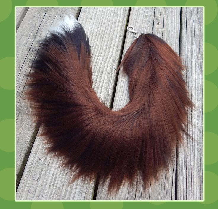 26 inch realistic wolf yarn tail by Black-Heart-Always