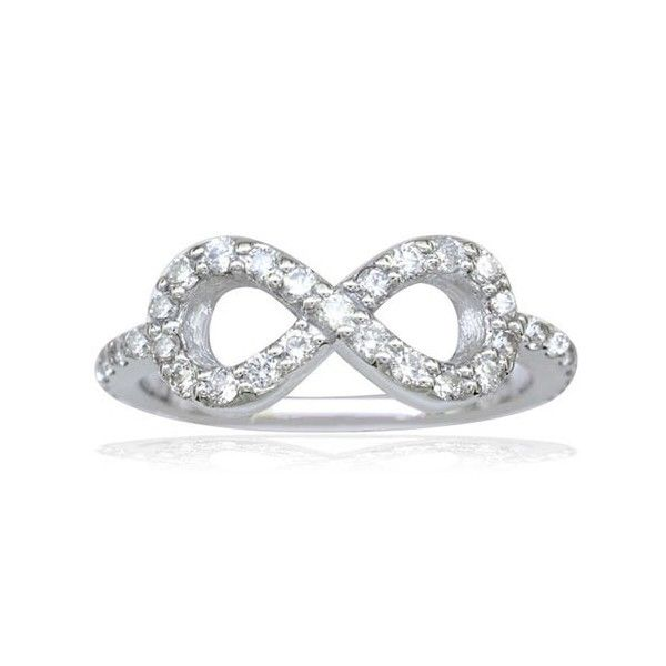 Infinity Ring Engagement with Half Carat Diamonds