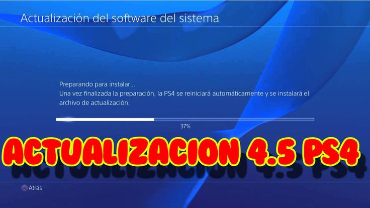ACTUALIZACIÓN 4.5 disco duro externo de ps4   firmware Playstation 4