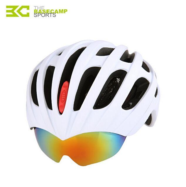 Basecamp 5 Matte Colori Casco Da Bicicletta Con 3 Lens Mens Bici Caschi Traspirante Ultralight Ragazze in Bicicletta Caschi