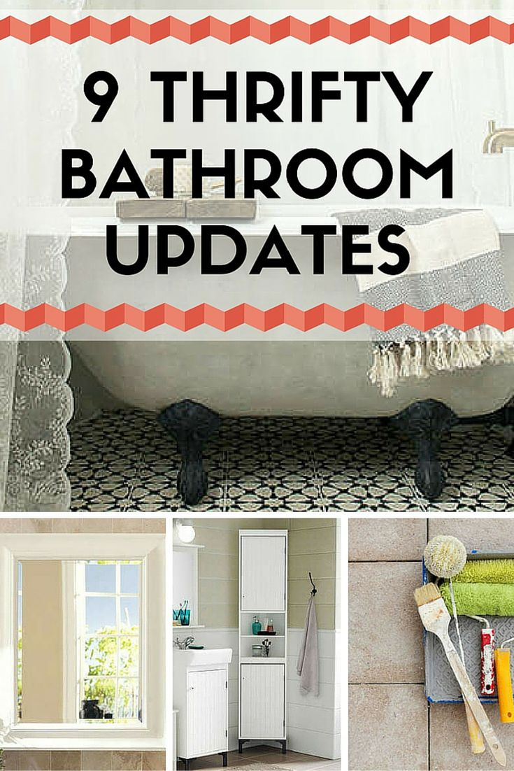 Refresh an old bathroom with some easy and affordable updates. These thrifty ideas will save you tons of money on a total bathroom remodel.