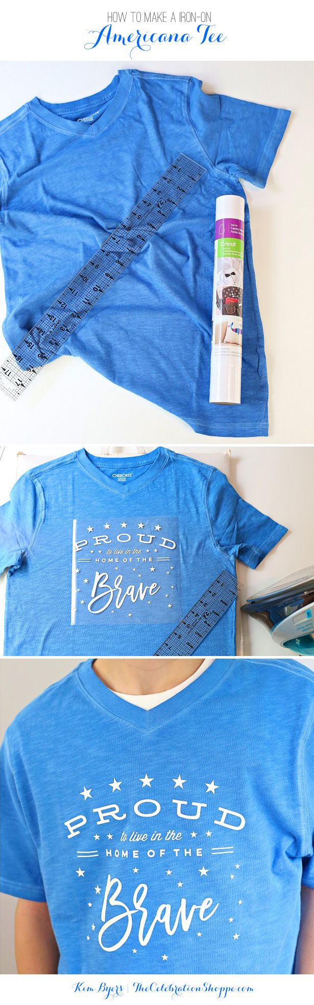 Make A DIY Iron-On Tee For 4th of July | Kim Byers