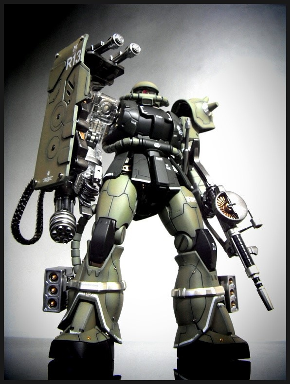GUNDAM GUY: MG 1/100 MS-06J Zaku 2.0 Conversion - Customized Build