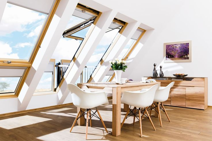 Make even a tiny space feel bigger & brighter with the FAKRO GALERIA. This stunning, high quality roof window opens up into a Juliet balcony. That will WOW your friends :)