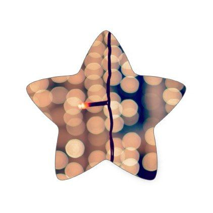 Festival Of Lights. Happy Diwali ! Bokeh Star Sticker - christmas craft supplies cyo merry xmas santa claus family holidays
