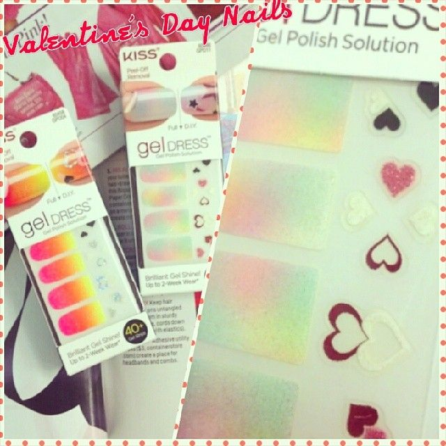 77 best jayeons picknail art images on pinterest dinners kiss valentines day nails kiss gel dress with heart accents found at walgreens or walmart prinsesfo Images